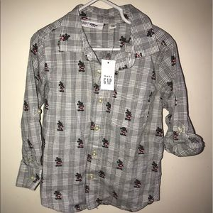 4T Long Sleeve Button-up